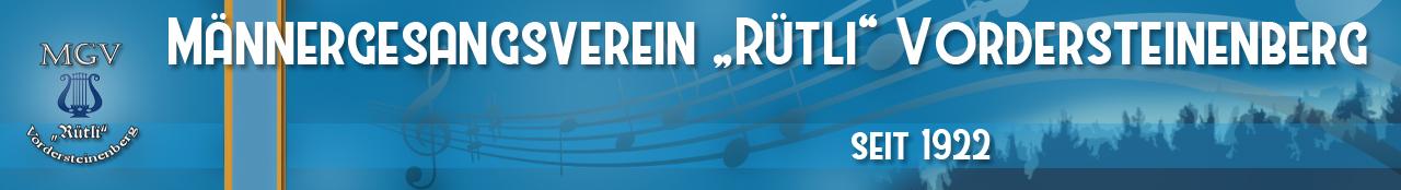 """MGV """"Rütli"""" Vordersteinenberg"""